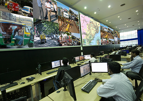 yamuna expressway video wall control room
