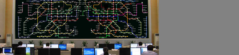 Metro Rail Video-wall Control room