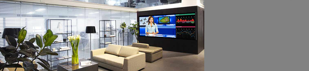 LCD Video-Wall used in Office Lobby