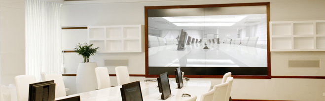 Video Wall Conference Room Project In New Delhi India - Conference table india