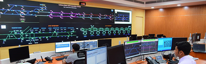 Lucknow Metro Operations Control Centre