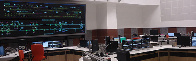 MMOPL video wall Control Room