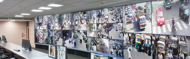Surat Safe City Surveillance Room