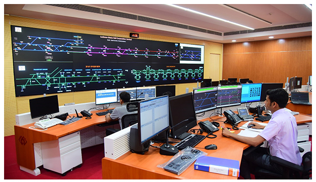 Delta's brightest video walls at Lucknow Metro MRTS